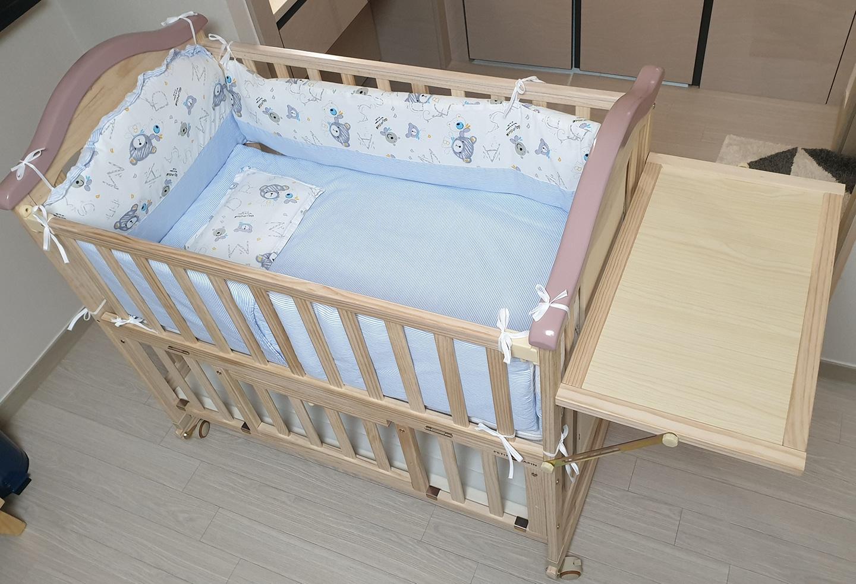 쁘띠라뺑 도모 아기침대 풀세트