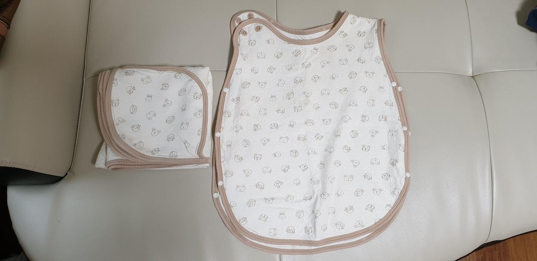 속싸개 겸 블랭킷&수면조끼 셋트(미술조끼 활용가능)