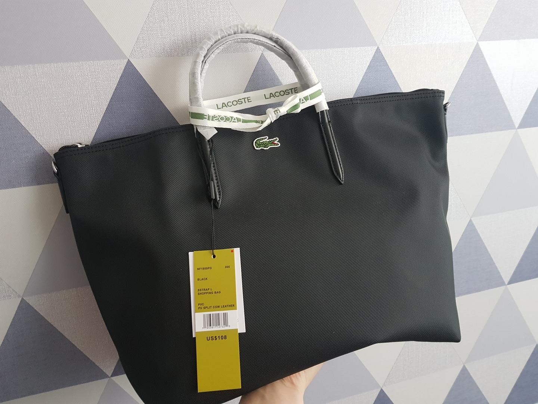 (새제품)라코스테가방 기저귀가방 빅백 크로스백