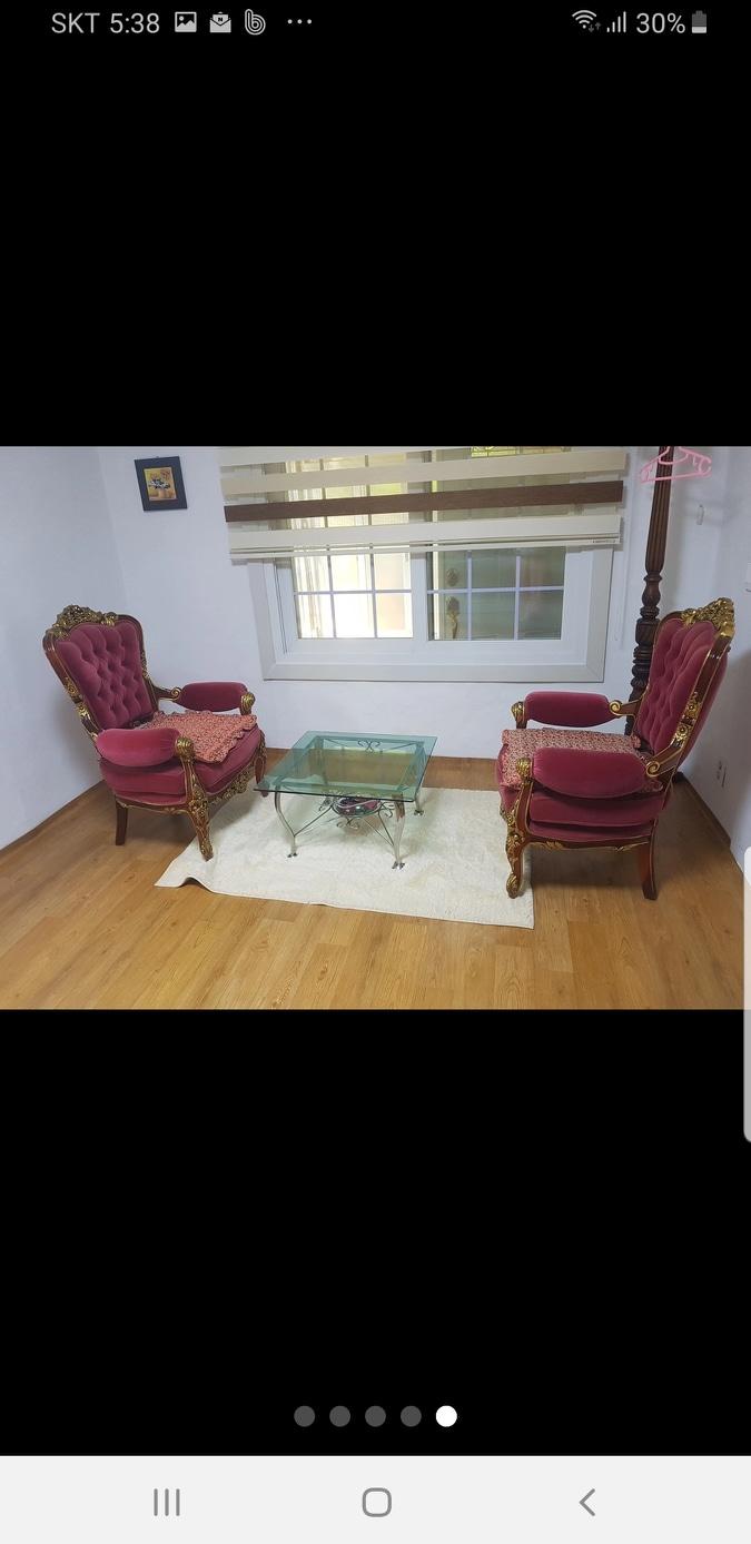앤틱 의자 테이블 매트