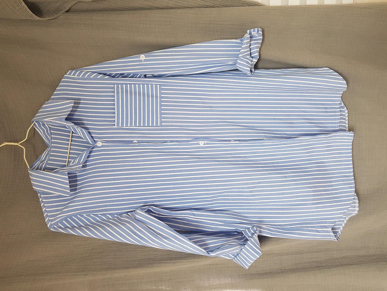 [새상품] 스트라이프 롱 셔츠