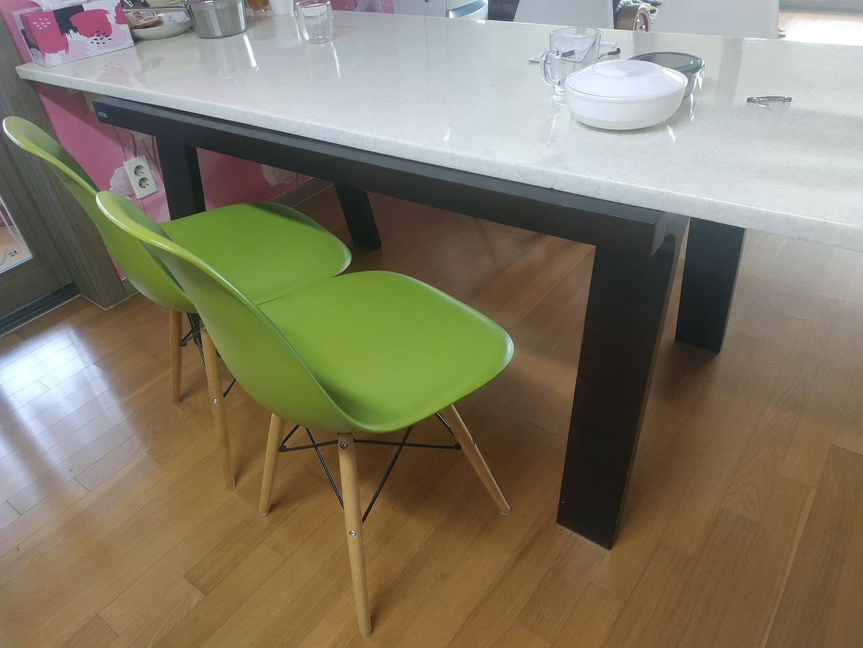 식탁, 식탁상판, 의자