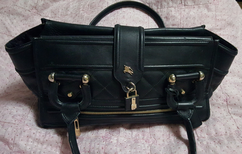 버버리 정품 가죽 토트백 숄더백 가방