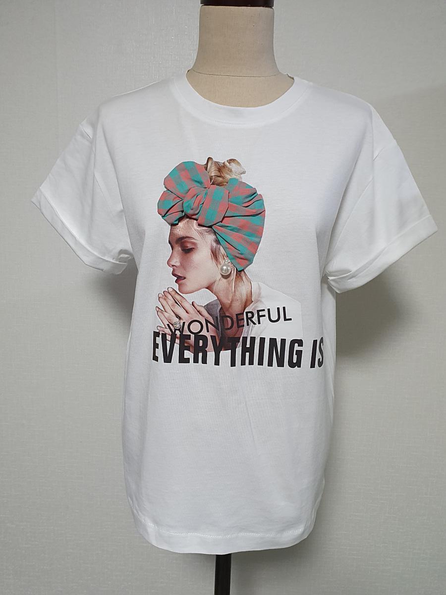 체크 리본 티셔츠