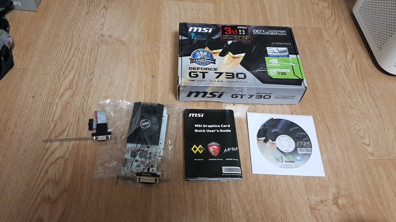 MSi gt730 LP 슬림 팜.  롤 피파4 오버워치 로스트아크 메이플