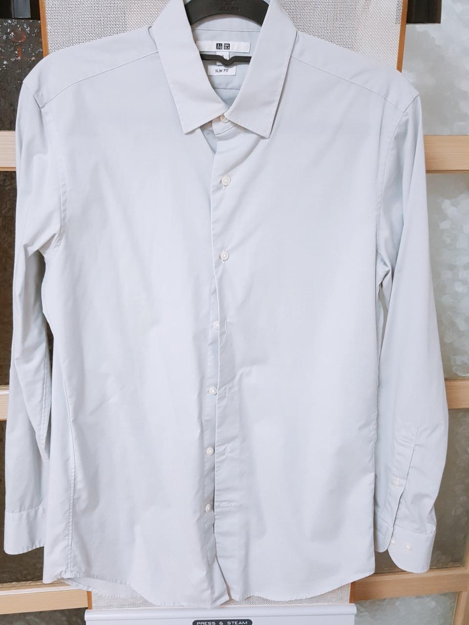 그레이 유니클로 셔츠