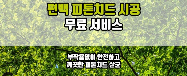 편백나무 피톤치드 연무서비스 (100%무료)->시중가5만원