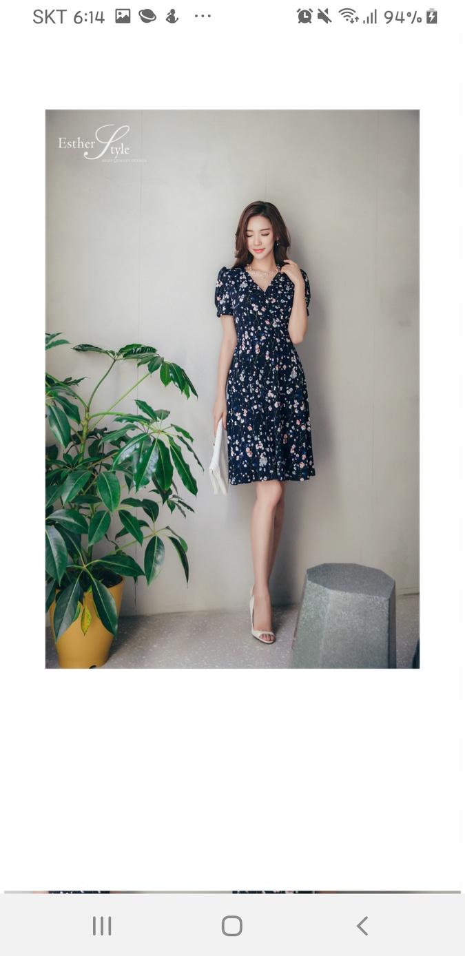 에스더스타일 꽃무늬 원피스 M