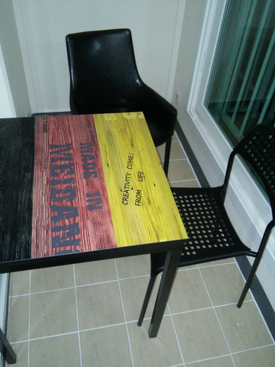 1인식탁, 의자