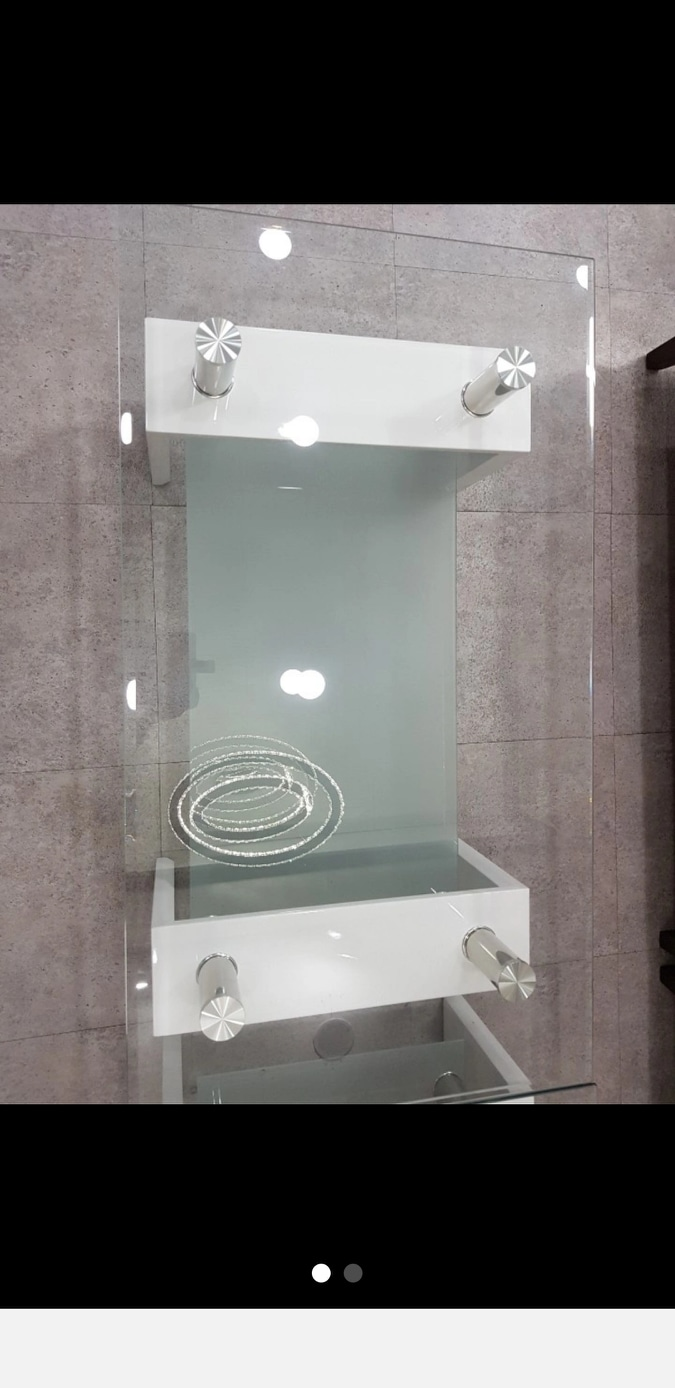 강화유리2단 테이블
