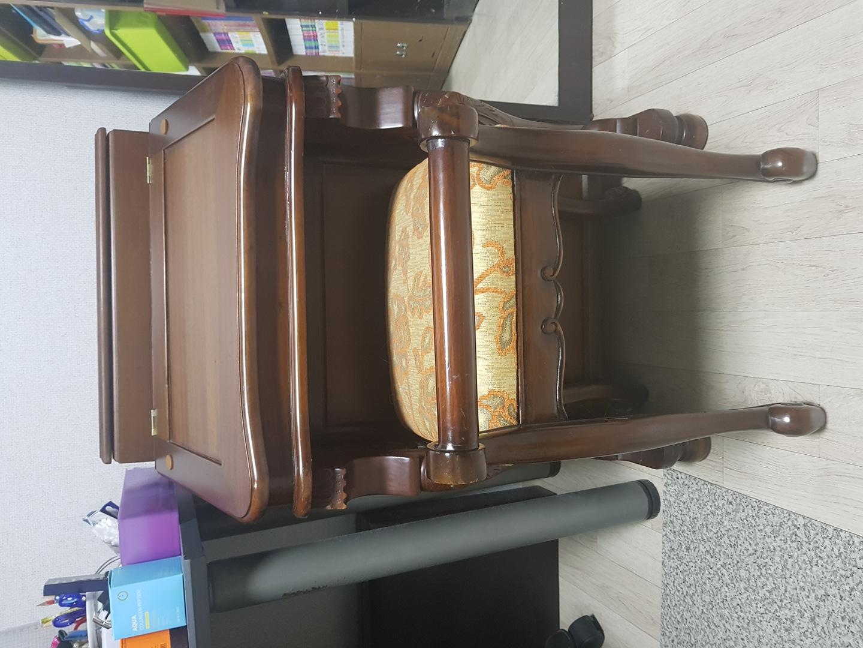 원목화장대와 의자 세트