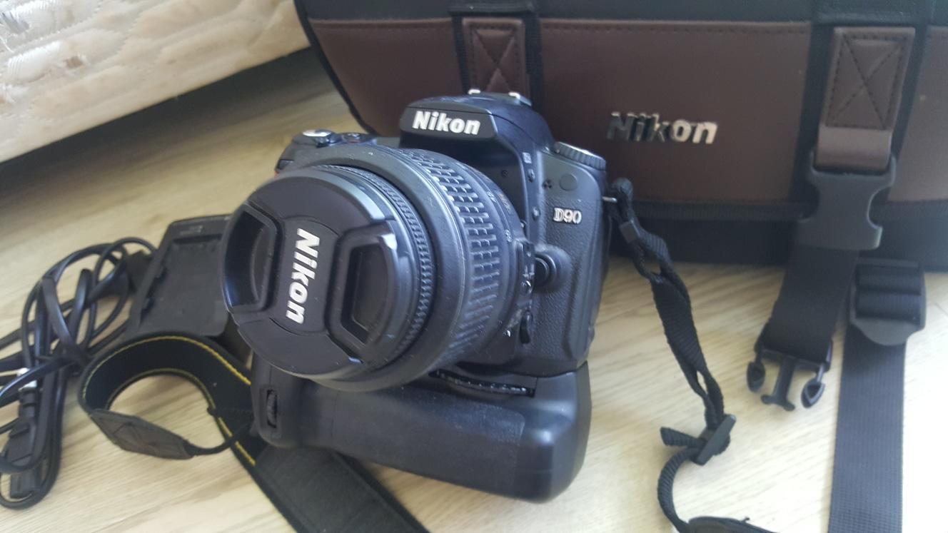 니콘 카메라 D90 가방 세로그릴 렌즈 포함
