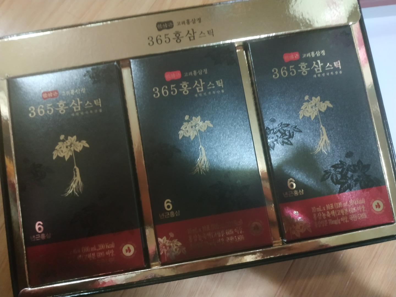 (6년근 홍삼)  한삼근 고려홍삼정 365스틱 새상품