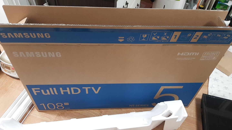 새상품 삼성 TV 풀HD 43인치 N5시리즈 UN43N5020AFXKR