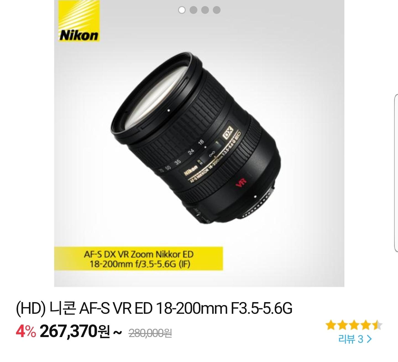 카메라 망원렌즈 (18-200mm)