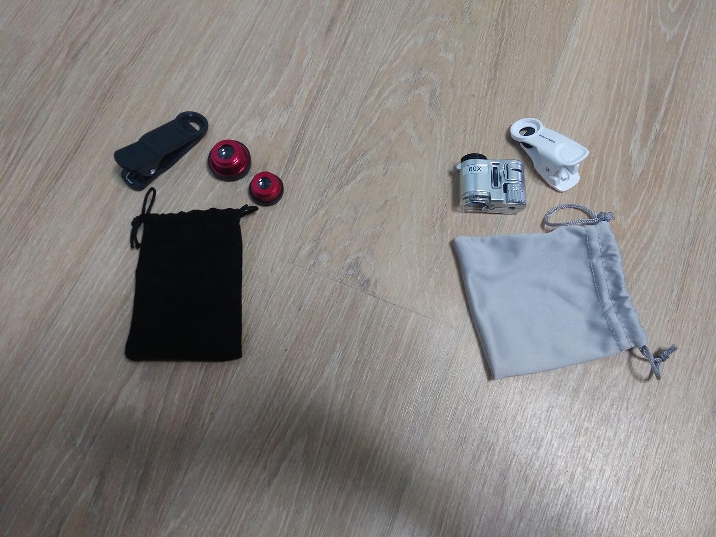 휴대폰 카메라 렌즈(어안렌즈,마이크로렌즈,와이드렌즈)     휴대폰 현미경(×60)