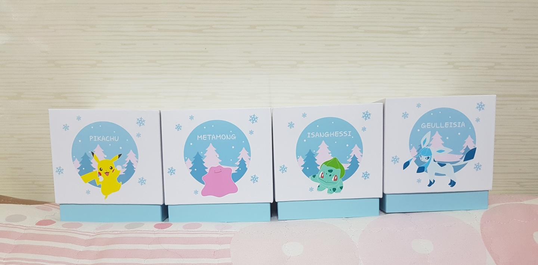 ★★★롯데리아 스노우볼 눈꽃 에디션 4종 풀세트 미개봉 새제품 판매합니다!!!