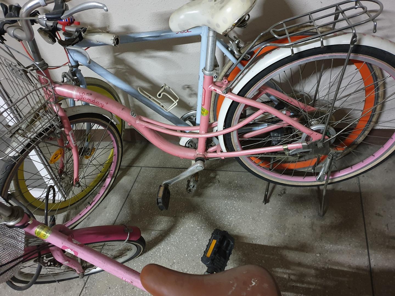 핑크색 삼천리자전거