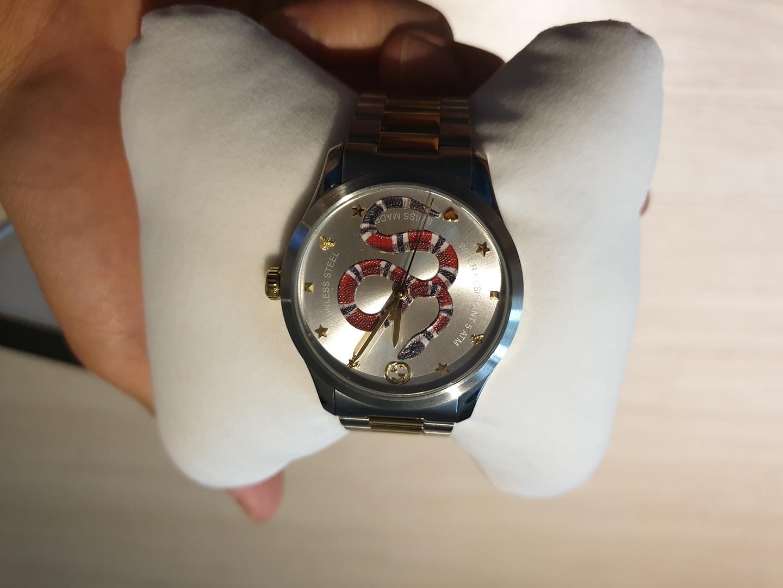 [남자시계]구찌 스네이크 메탈시계
