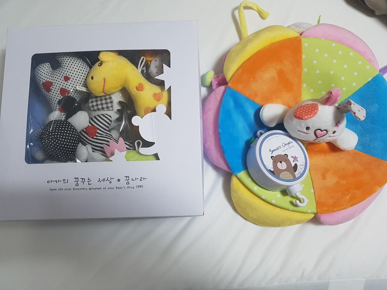 꿈나라 모빌 (흑백모빌 + 컬러모빌 + 자동오르골) - 모빌대 없음