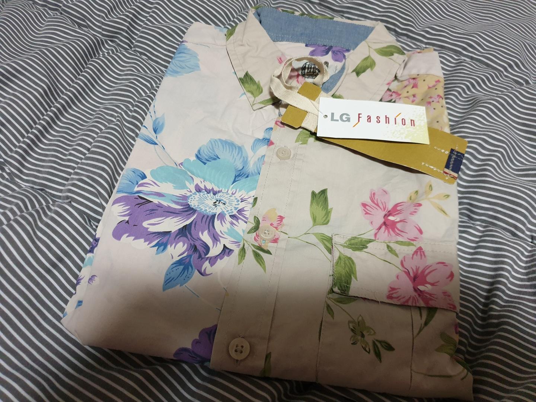엘지패션 꽃무늬셔츠 긴팔