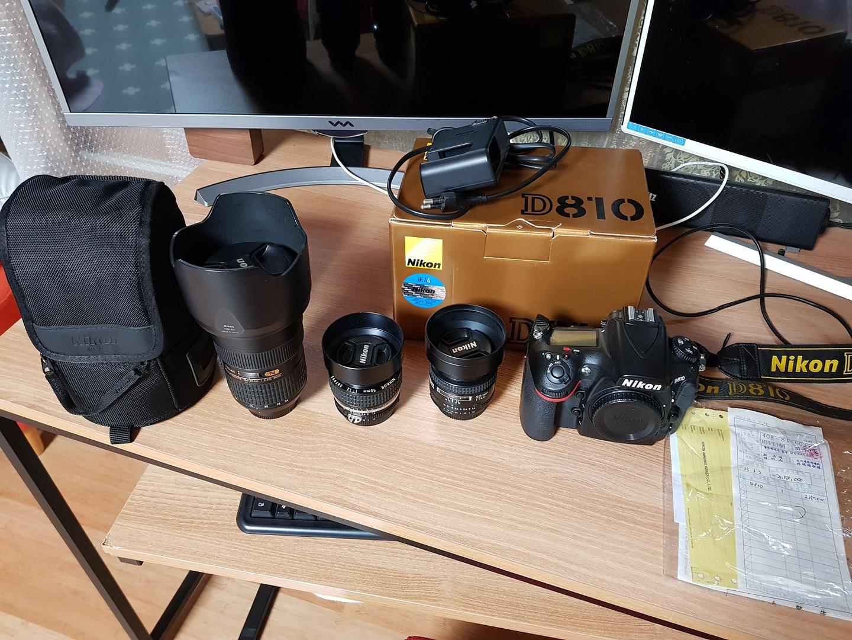 니콘 d810 dslr, 24-70 렌즈 팔아요