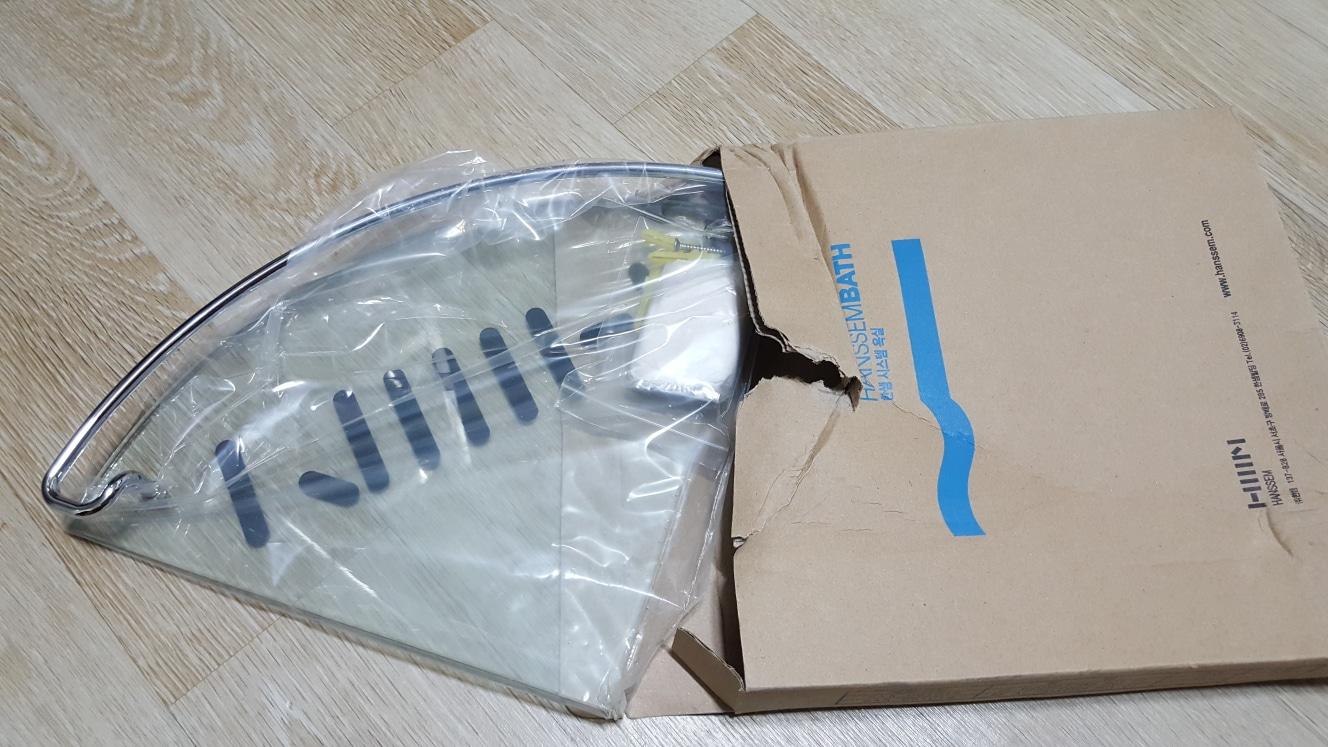 한샘바스 강화유리선반