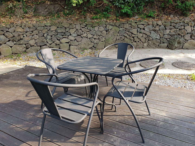 야외테이블, 의자