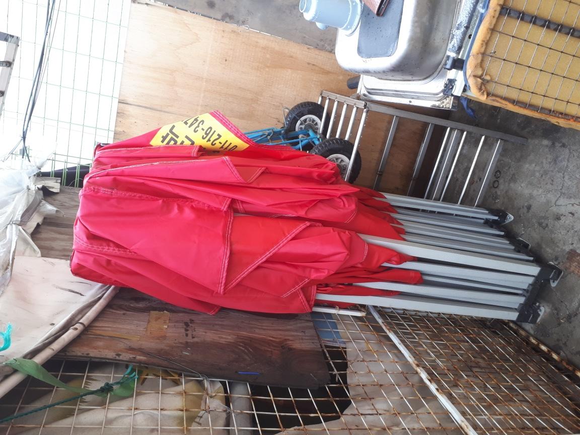 자바라 텐트 한 번 사용하고 필요치가 안 해서 서 팝니다