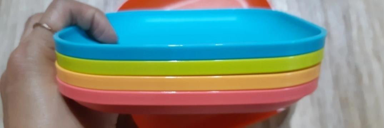 새제품 타파웨어 간식접시 4개 세트