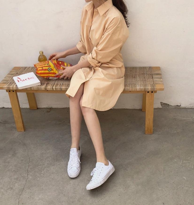 [옷장정리] 오렌지 남방 원피스 : 프롬데이원 쇼핑몰