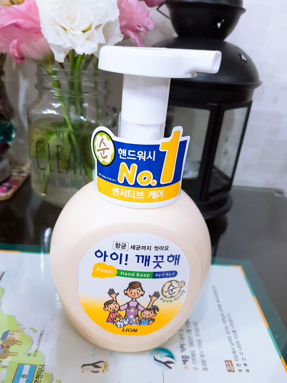 [새상품]아이 깨끗해 향균 폼 핸드숍 순 250ml