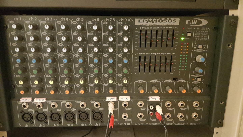 EPM 1050s 파워드믹서  오디오믹서  앰프 음향기기