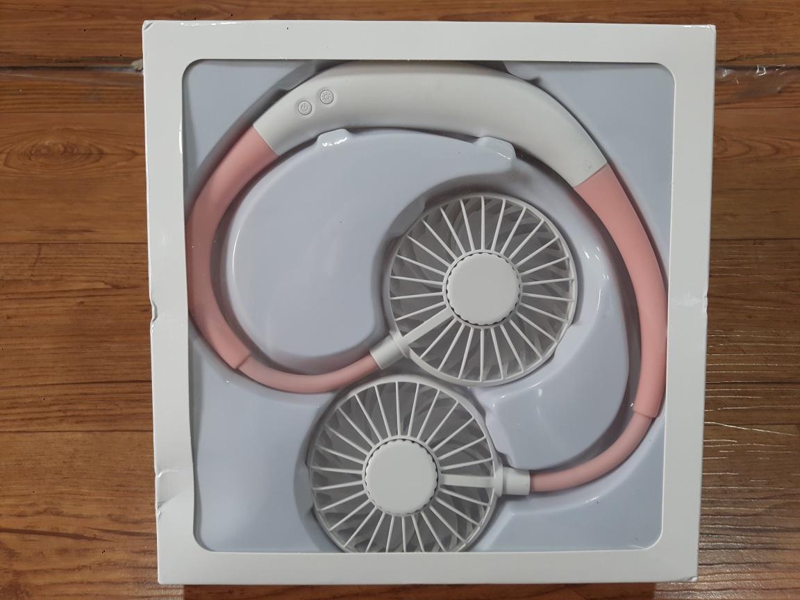 LED 핸디형 무선 넥밴드 선풍기 휴대용선풍기