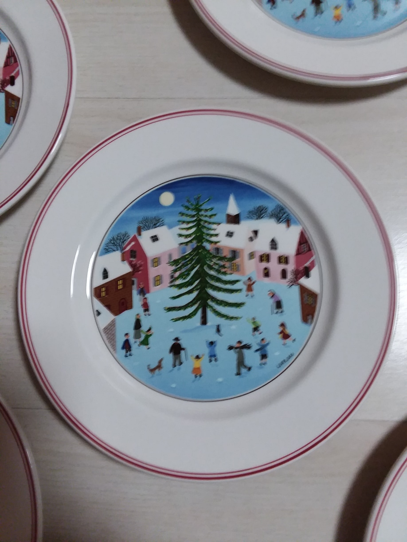 빌보 디자인 나이프 크리스마스 샐러드접시