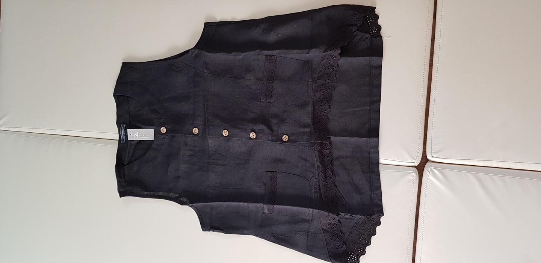 (새옷)모시옷 검은색 조끼