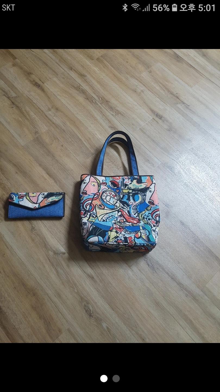 통영 누비 가방 지갑세트