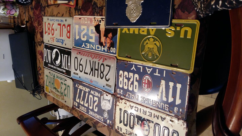 빈티지 자동차번호판