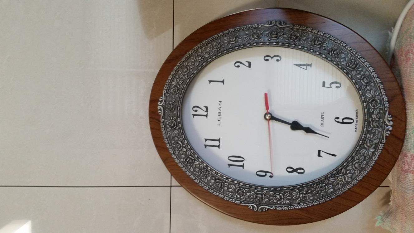 원목주물시계