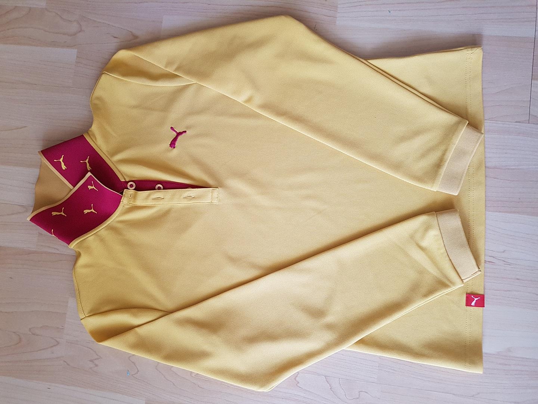푸마. 골프티. 95. 겨자색에. 가까운. 노란색