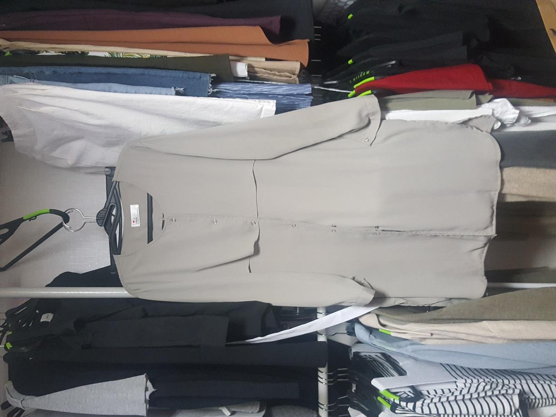 쉬폰 원피스 자켓
