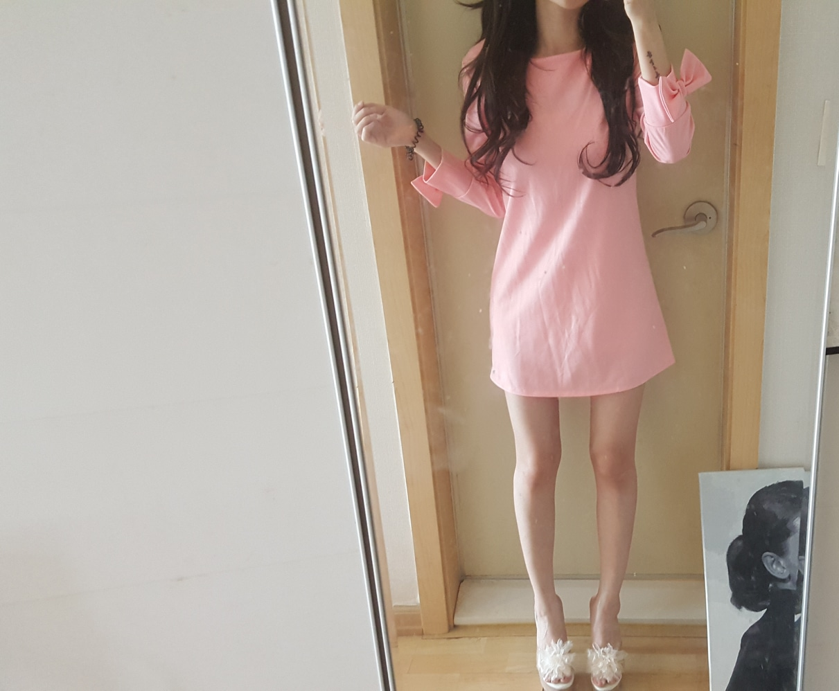 분홍 원피스