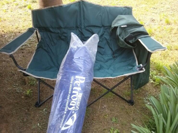 거실 / 정원 / 발코니 / 오토캠핑장등 다목적용 - 휴대용 더블체어