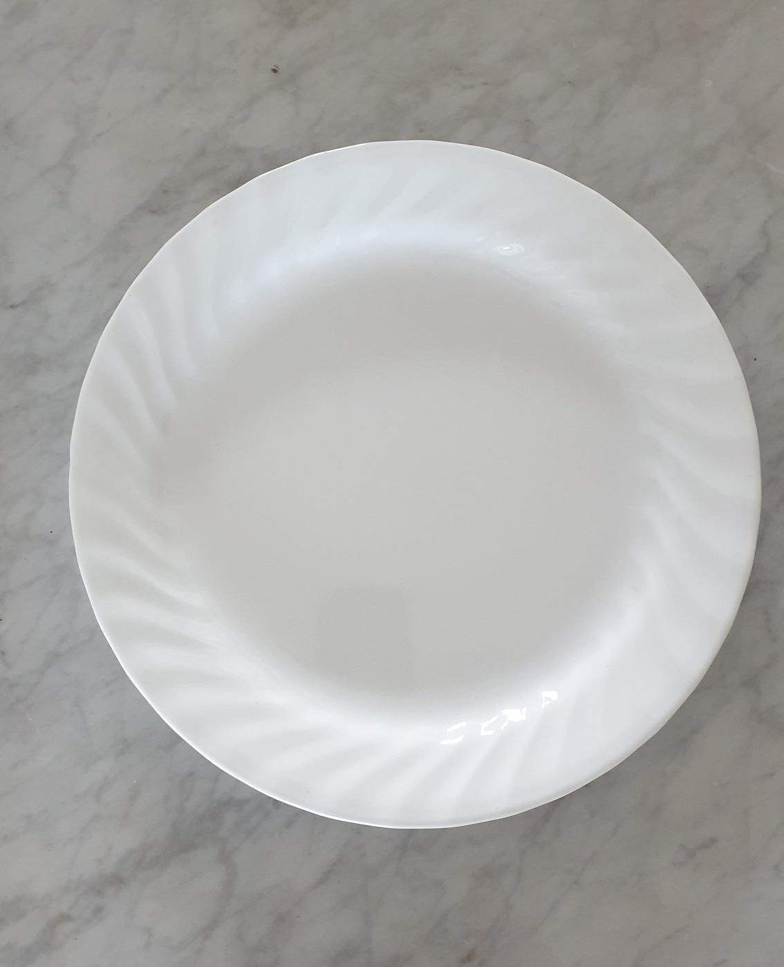 코렐 접시 2장