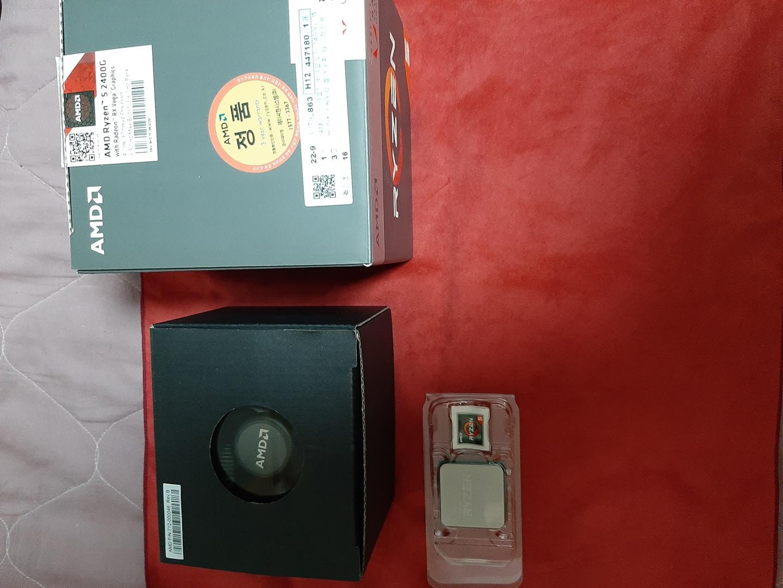 라이젠5 2400g + msi b350m 보드셋