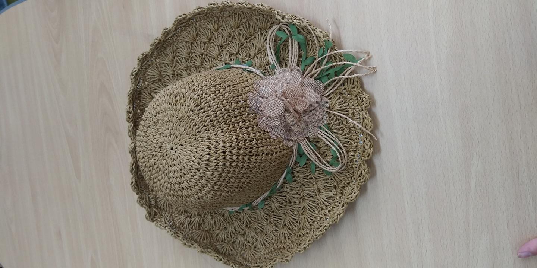 여름 밀짚 모자 새것