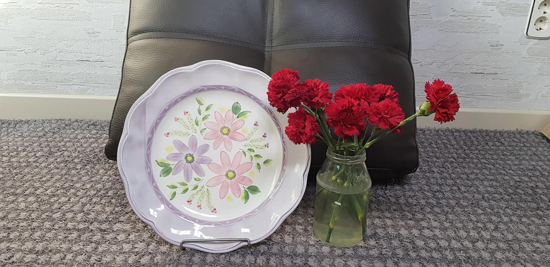 프로방스장식용 접시