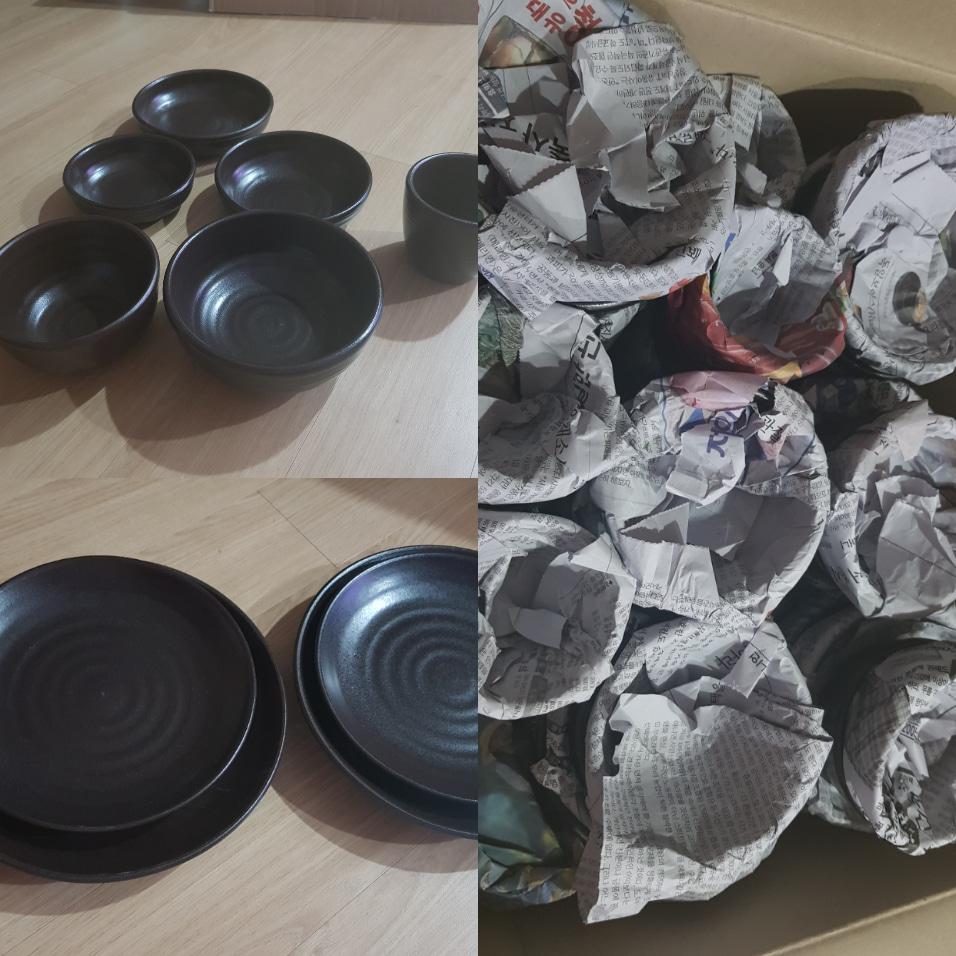 옹기그릇 8인세트 접시4개