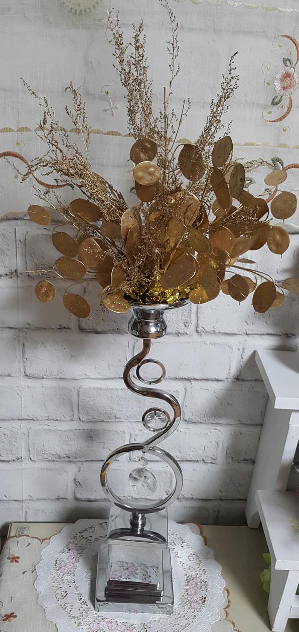 럭셔리 금잎사귀 금조화