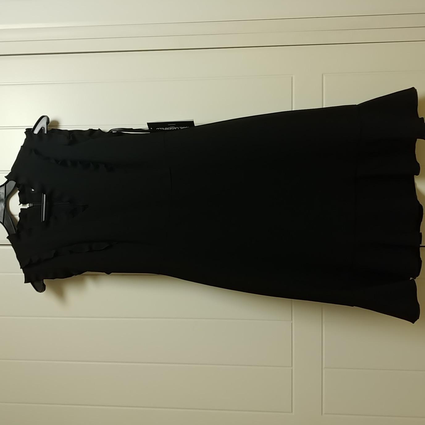 디자이너 칼라거펠트 블랙 미니 드레스